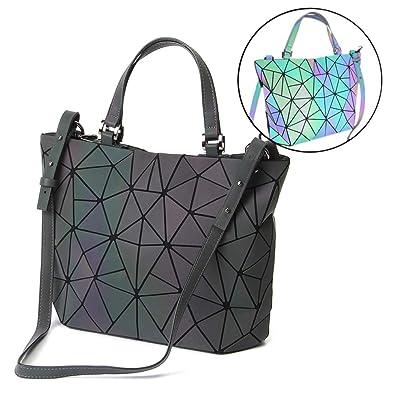 56989d9ad872 Amazon.com  HotOne Luminous Shard Lattice geometric purse Women Shoulder Bag  PU Leather Handbag (Rainbow)  Shoes