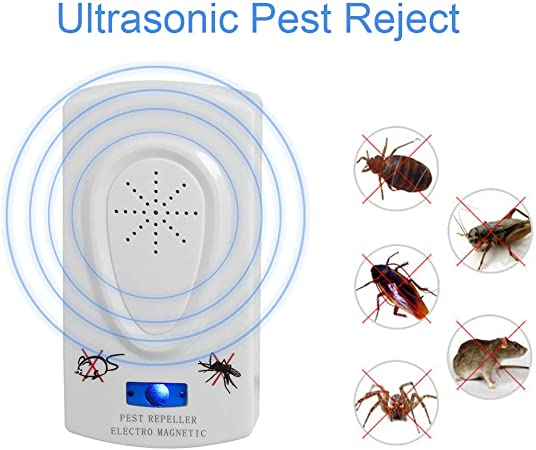 WSSZZ319 Ultrasonido Ratón Repelente de Plagas Dispositivo de Repelente de Cucarachas Insectos Ratas Arañas Mosquito Asesino Control de Plagas Resto de Plagas: Amazon.es: Hogar