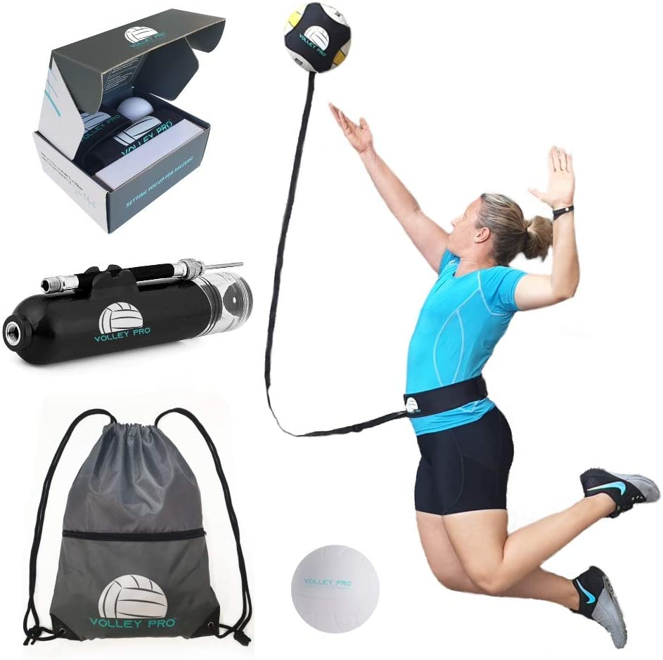 Ultimate Volleyball Hitting Trainer - Volleyball Training Equipment - Spike Trainer Volleyball for Adult, Kids, Men & Women - Practice Serve, Spike, and Setter with Online Access to Pro Coach : Sports & Outdoors