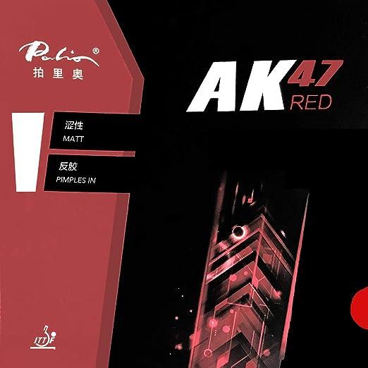 Amazon.com : Palio AK47 AK-47 AK 47 RED Matt Pips-in Table Tennis Ping Pong Rubber with Sponge H45-47 2.2mm (Black) : Sports & Outdoors