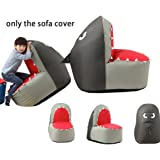 cartoon sofa chair. Quwei Children Cartoon Shark Leisure Creative Comfortable Chair Backseat Bean Bags Sofa Sets (silvery)