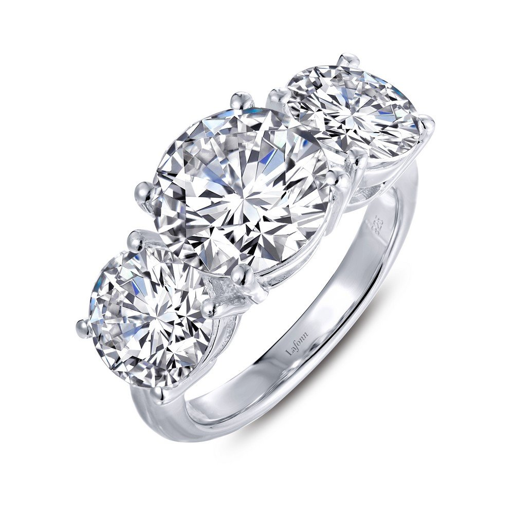 Lafonn Red Carpet Sterling Silver Platinum Plated Simulated Diamond Ring (7.95 CTTW)