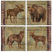 Thirstystone 4-Piece Northern Wildlife A/4 Coaster Set