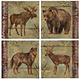 Thirstystone 4-Piece Northern Wildlife A/4 Coaster Set