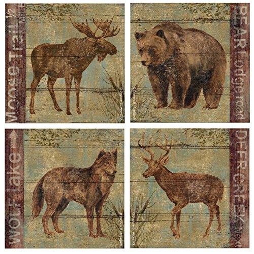 Thirstystone 4-Piece Northern Wildlife A/4 Coaster ()