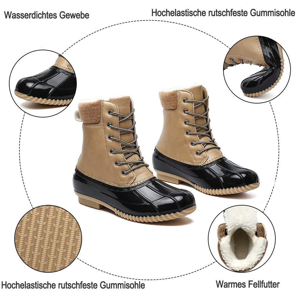 Dannto Botas de Senderismo para Mujer Botas de Nieve Invierno Impermeable Calzado Zapatos de Ocio al Aire Libre y Deportes Zapatillas Antideslizantes c/álido Confortables