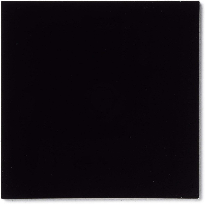 "Rock Hard Plastics - 12"" x 12"" Black Acrylic Sheet Lucite Plexiglass (Actual Size 11.875"" x 11.875"" - .118"" (1/8"")"