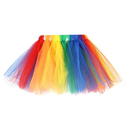 a78eee1058 Buy Fancy Steps Baby Girl's Rainbow Tutu Dancing Skirts Online at Low  Prices in India - Amazon.in