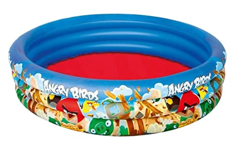 Amazon.com: Bestway Angry Birds 3-Ring piscina hinchable ...