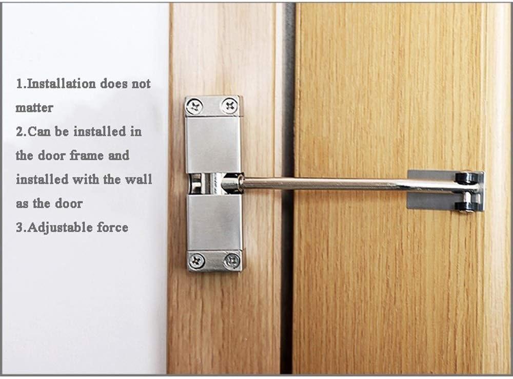 Muelle de puerta automático del hogar de perforación libre, Cierrapuertas de búfer invisible invisible, Muelle de puerta silenciador de puerta de hogar ajustable ajustable, Muelle de cierre de muelle: Amazon.es: Bricolaje y