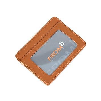 Hombres de piel de útil Mini Slim tarjetero cartera monedero tarjetas tipo cartera, marrón (negro) - Gray-001: Amazon.es: Equipaje