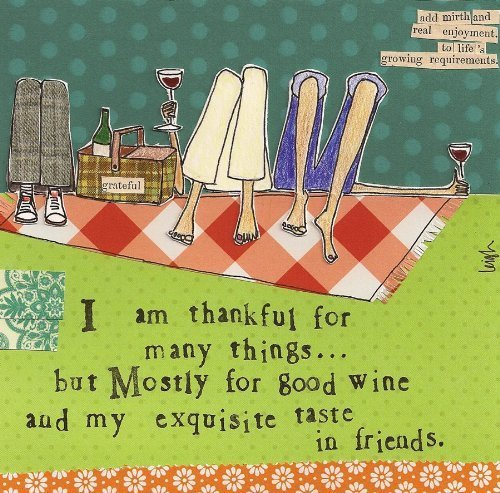 Ideal Home Range 20 Count Boston International 3-Ply Paper Cocktail Napkins, Curly Girl Design Thankful For by Ideal Home Range   B00EPEYMRY