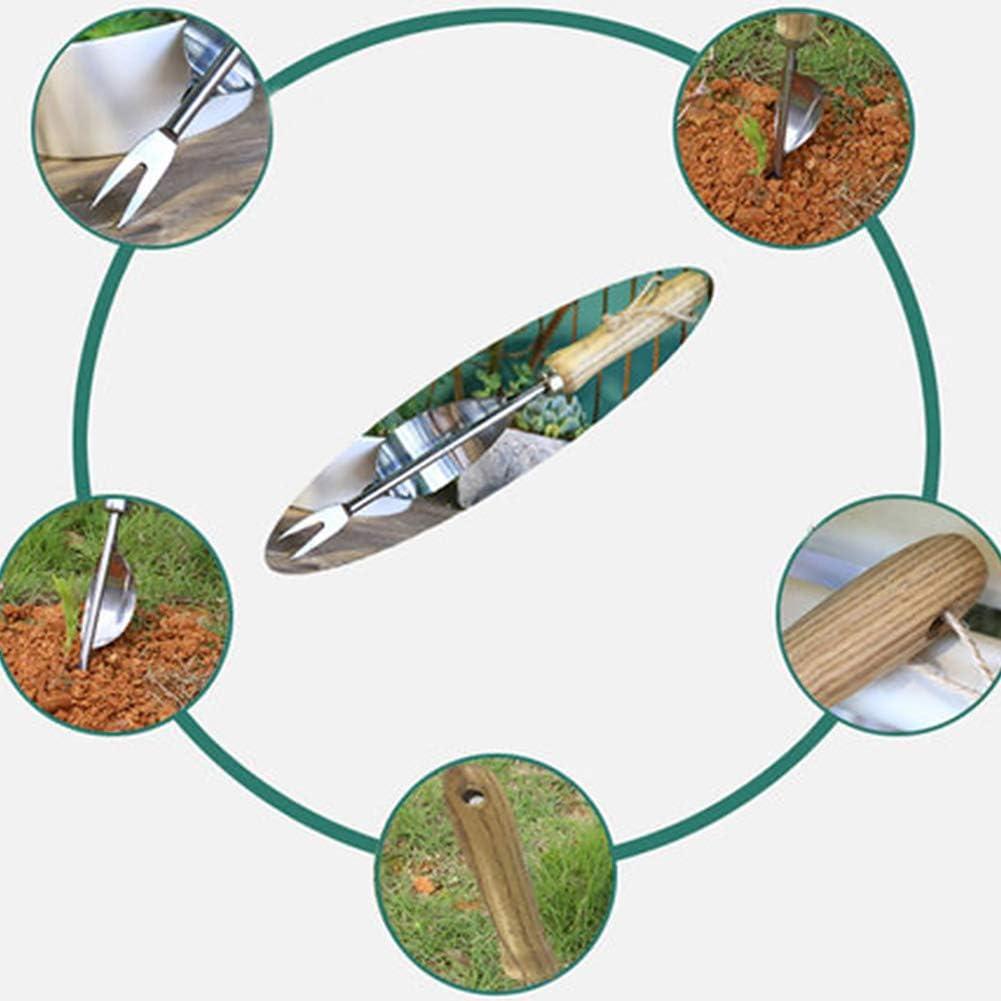 As is Shown Matedepreso Home Hand Stainless Steel Digging Puller Weeding Tool Weeder Fork Manual Durable