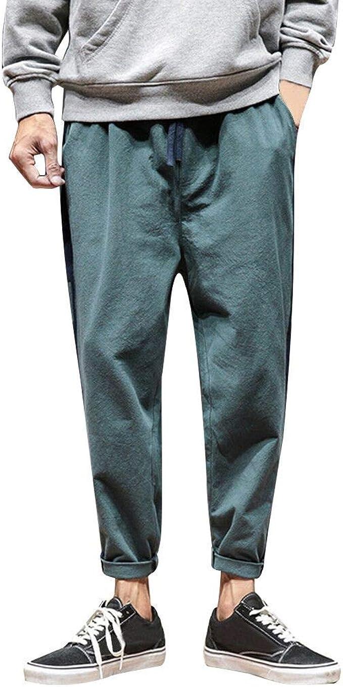 Pantalones Largos para Hombre, Moda Hombres Casual sólidos Sueltos ...