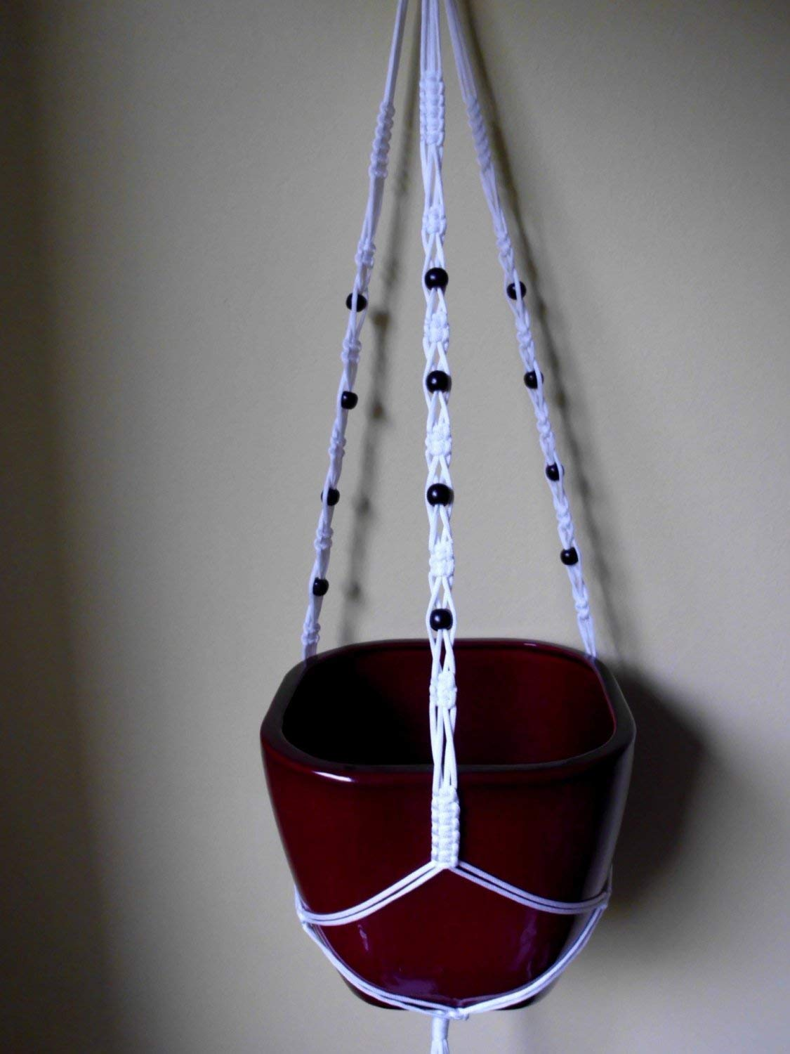 Many COLORS available Indoor Modern Macrame plant hanger