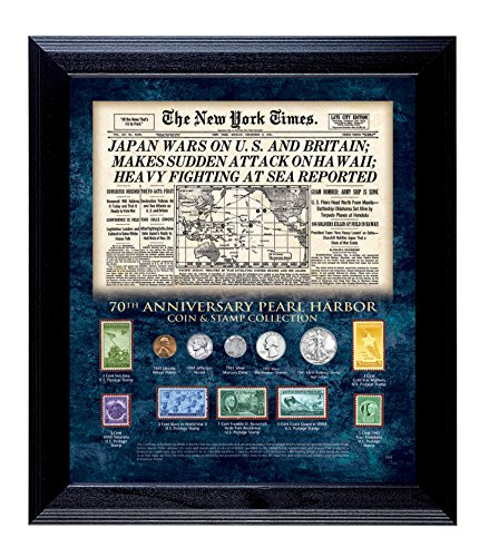 American Coin Treasures New York Times Pearl Harbor 70th Anniversary Coin and Stamp Collection - 1941 Stamp Poster