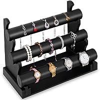 Expositor de joyas de tres niveles – negro