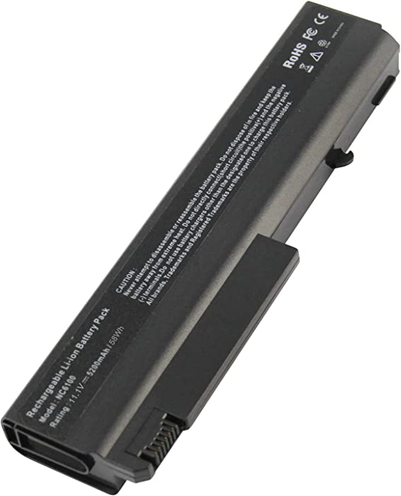ARyee Laptop Battery Replacment NC6100 Battery Compatible with HP Compaq 510b 6515b 6710b 6710s 6715b 6715s 6910p NC6100 NC6105 NC6110 NX6110(5200mAh 10.8V)