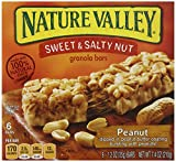 Nature Valley Sweet & Salty Nut Granola Bars, Peanut, 6-1.2 Ounce Bars (Pack of 12)