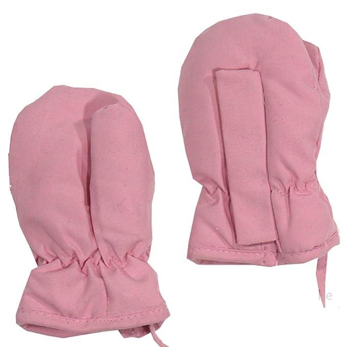 6d5c0495c39eae Döll Mädchen Thermo-Fausthandschuhe mit Daumen rosa Größe 0 (3 bis 6 Monate)