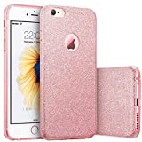 iPhone 6s Case, Imikoko Fashion Luxury Protective Hybrid Beauty Crystal Rhinestone Sparkle Glitter Hard Diamond Case Cover For iPhone 6s/6 (3-Layer)