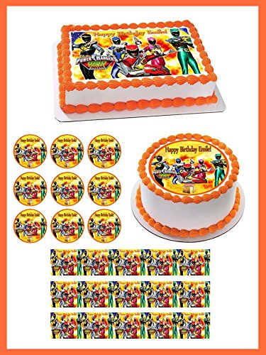 Power Rangers Dino Charge - Edible Cupcake Toppers