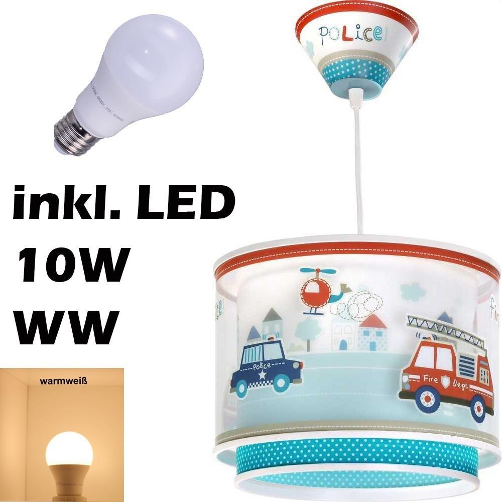 LED Lampe Kinderzimmer Decke Pendelleuchte Feuerwehr 60612 Warmweiß ...
