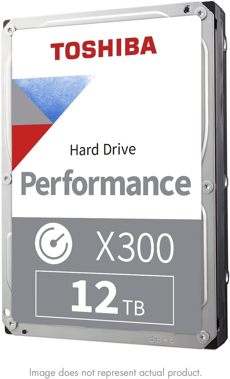 Toshiba X300 12TB Performance & Gaming Internal Hard Drive 7200 RPM SATA 6GB/s256 MB Cache 3.5 Inch - HDWR21CXZSTA