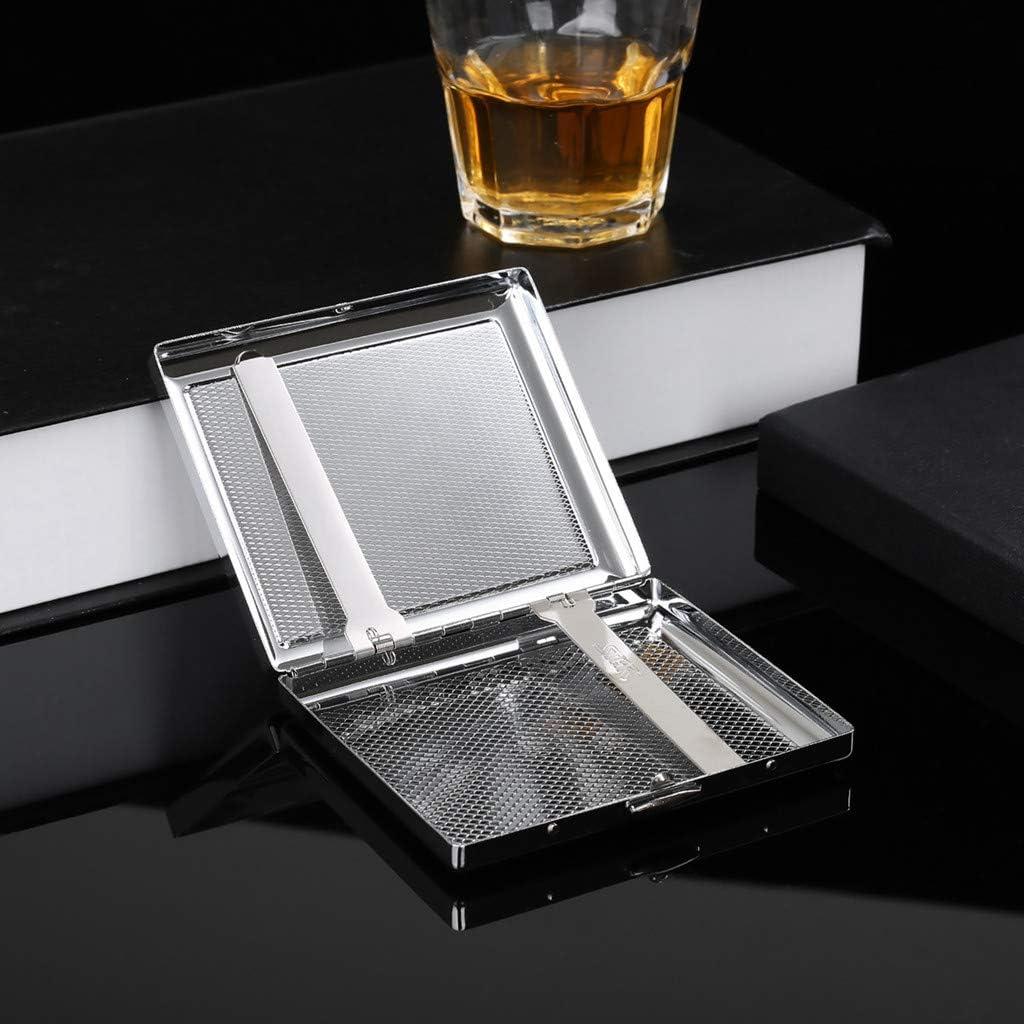 Etui Zigaretten Metall Zigarettenbox Silber Zigarettenetui Edelstahl Zigarettenetui Silberaus hochwertigem Stahl f/ür 20 Zigaretten Mit Marken-Geschenk-Box MYH02