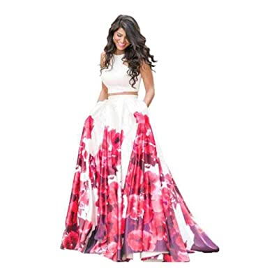 Indian Handicrfats Export Digital Print Semi Stitched Lehenga Choli (Red)