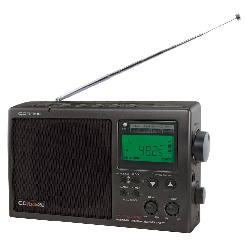 C. Crane CCRadio-2E Enhanced Portable AM FM Weather and 2-Meter Ham Band (Black) CC2BE by C.Crane