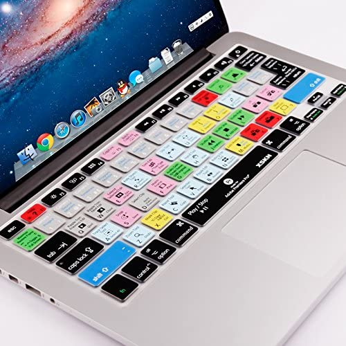 US and EU Versions XSKN Premiere Pro Silicone Shortcuts Keyboard Cover Skins for MacBook Air 13 /& MacBook Pro 13 15 17 Retina