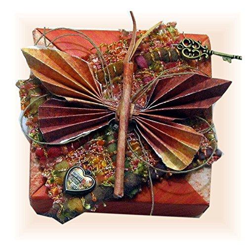Mini Scrapbook in a Butterfly Paper Tea Box