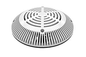 Color Match Pool Fittings 8-inch VGB Retro-Fit Universal Drain Cover & Adaptor Plate (White)