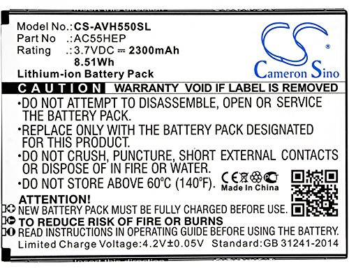 Cameron Sino 2300mAh Li-ion High-Capacity Replacement Batteries for Archos A55 Helium / Helium +, fits Archos AC55HEP / BSF20 ()