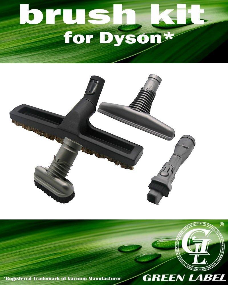 Kit de 4 Cepillos para aspiradoras Dyson DC29: Cepillo de cerdas, Cepillo rígido, Accesorio para colchones, Accesorio combinable 2-en-1.