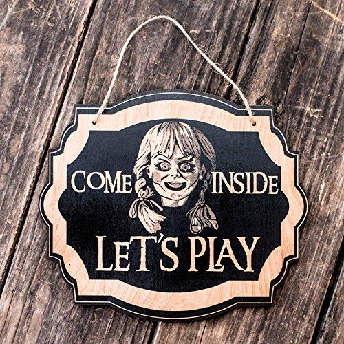 Come In Let's Play - Black Door Sign ()