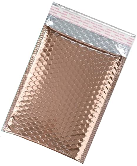 d0c45ed8f051 ABC 25 Pack Rose Gold Bubble mailers 6.5 x 9. Metallic padded envelopes 6 1