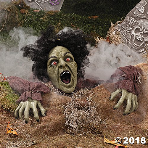 Clawing Zombie Groundbreaker with LED Eyes - Halloween Party Decoration