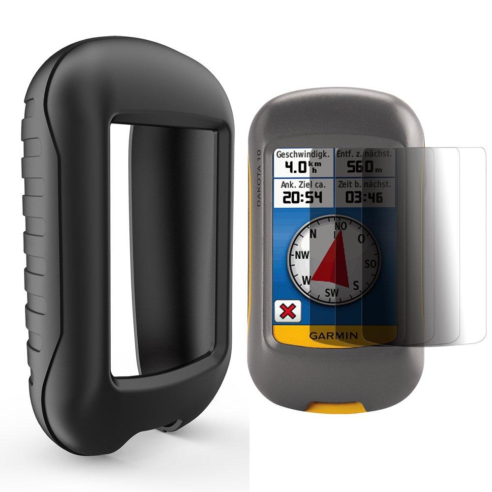 TUSITA Coque en silicone + protection d'écran pour Garmin Dakota 10, 20/Approach G3GPS ordinateur AMCS91Blk