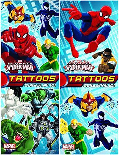 Ultimate Spiderman Set de 10 tatuajes – ideal para los favoritos ...