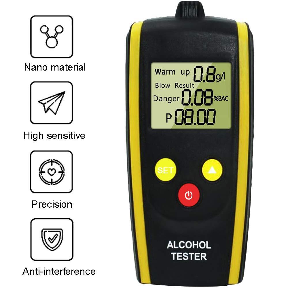 Muzbol Alkoholtester, Atemalkoholmessgerä t Alkohol Tester, Alkoholtester Blasen Measuring Drunk Driving Detector (Send Charging kit)