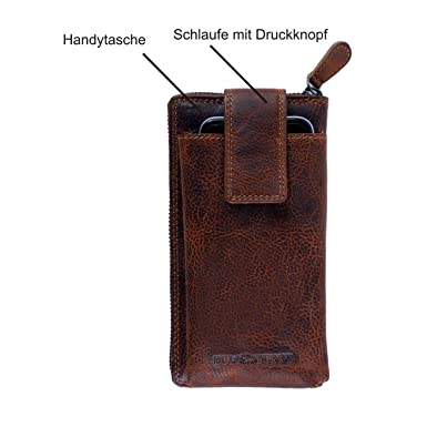 0f78b5240b4efb Geldbörse für Damen und Herren Echt-Leder mit Handytasche Großer Geldbeutel  mit RFID Schutz XL