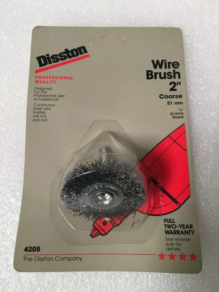 "Lot of 2 Wire Brush Wheel Brand New DISSTON 2/"" Coarse 51 mm Made in Germany"
