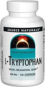 Source Naturals L-Tryptophan, 500 mg Mood, Relaxation, Sleep - 120 Capsules