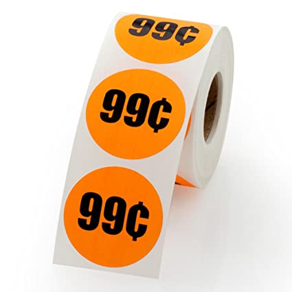 Amazon 99 Cents Sale Retail Pricing Label Stickers 15