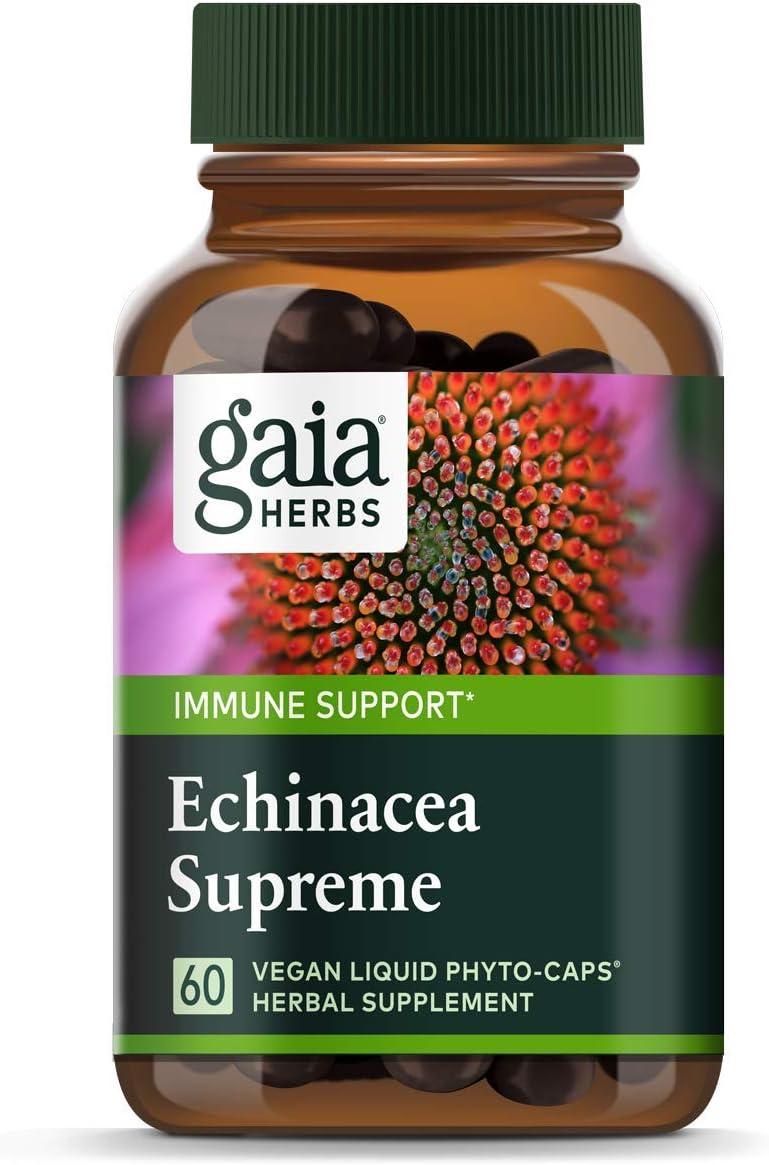 Amazon Com Gaia Herbs Echinacea Supreme Vegan Liquid Capsules