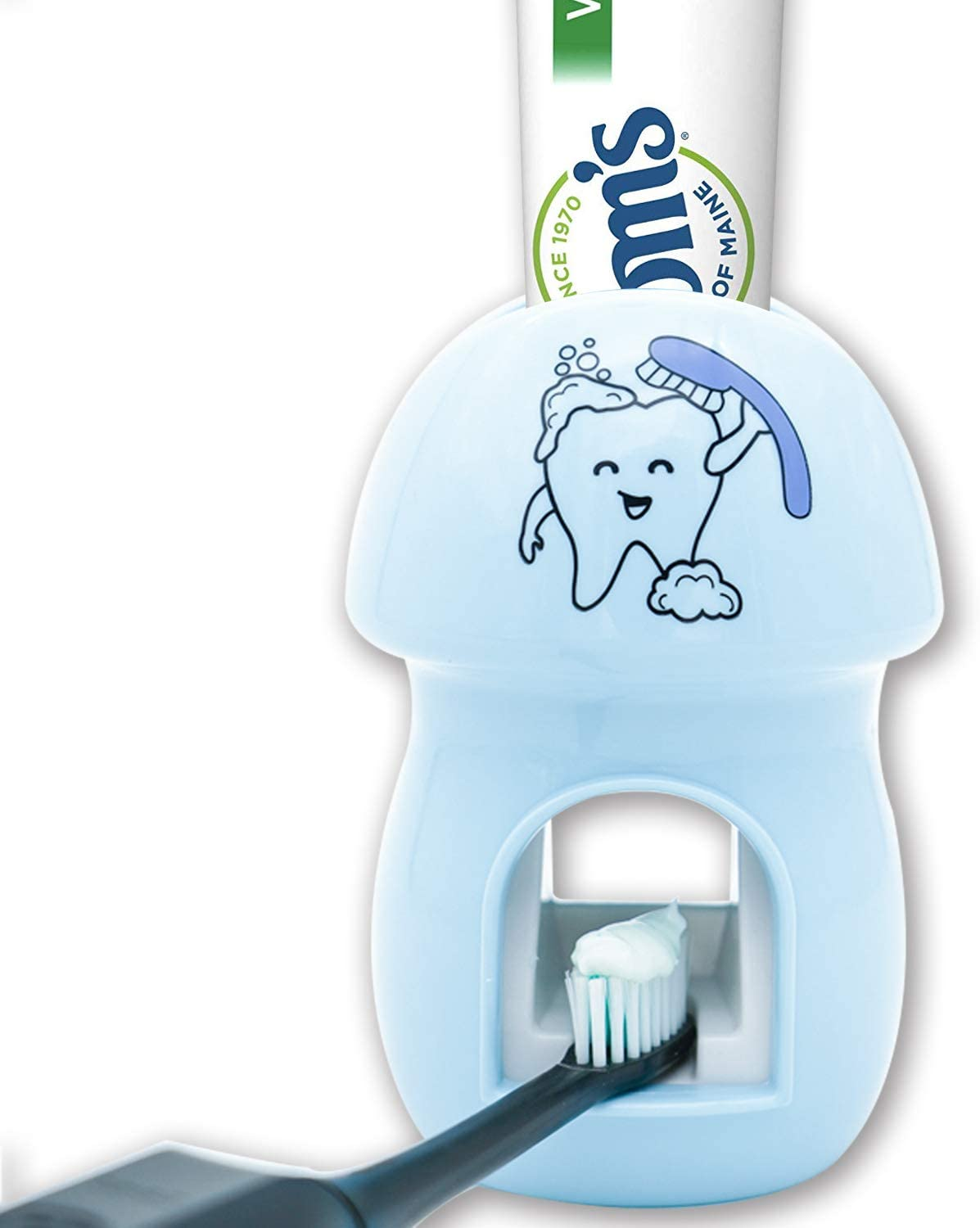 BZ Toothbrush Holder Automatic Toothpaste Dispenser Set Kids Hands Free Toothpaste Squeezer for Family Washroom