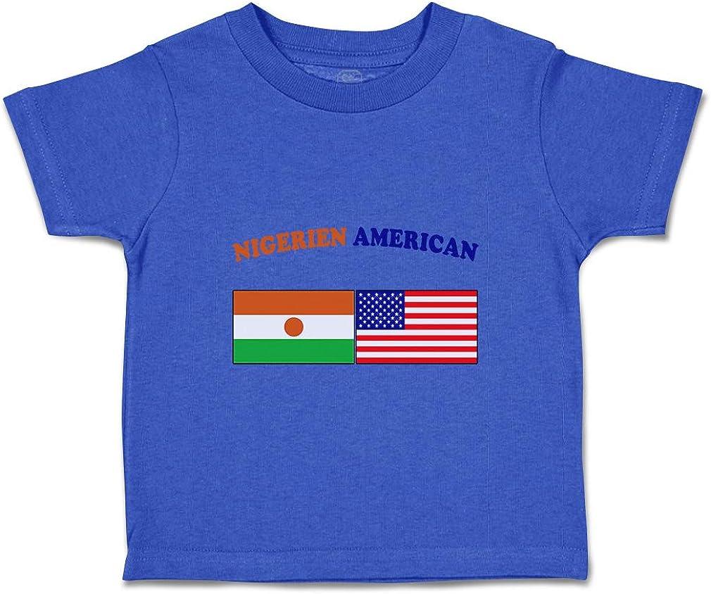 Custom Baby /& Toddler T-Shirt Nigerien American Cotton Boy Girl Clothes