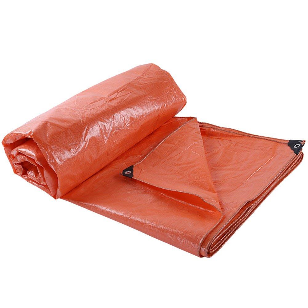 CAOYU Plane regendichte Sonnenschutz Zelt LKW Plane verschleißfest korrosionsBesteändig Anti-Aging, Orange